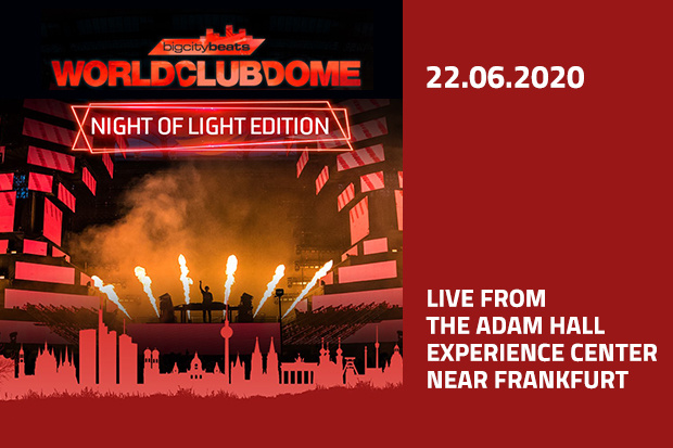 """Adam Hall präsentiert BigCityBeats WORLD CLUB DOME """"Night of Light"""" Edition"""