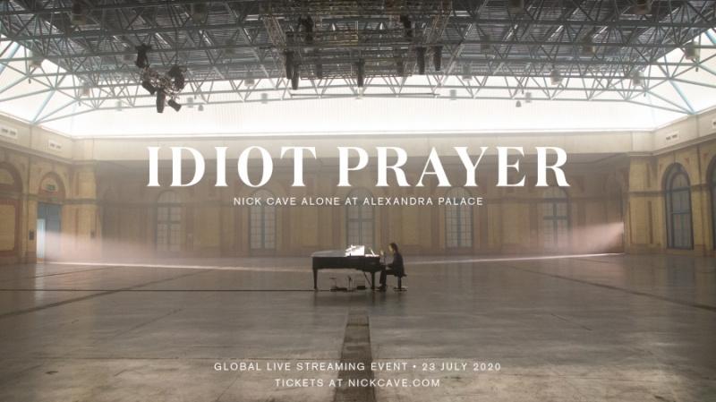 """Idiot Prayer: Nick Cave Alone At Alexandra Palace"" wird am 23. Juli als Live-Stream veröffentlicht."
