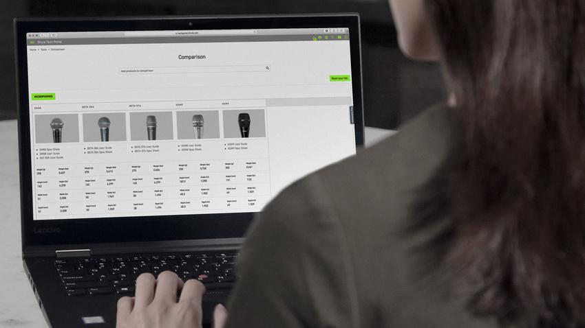 Neues Shure Tech Portal bietet einfachen Zugriff auf alle technischen Produktinformationen