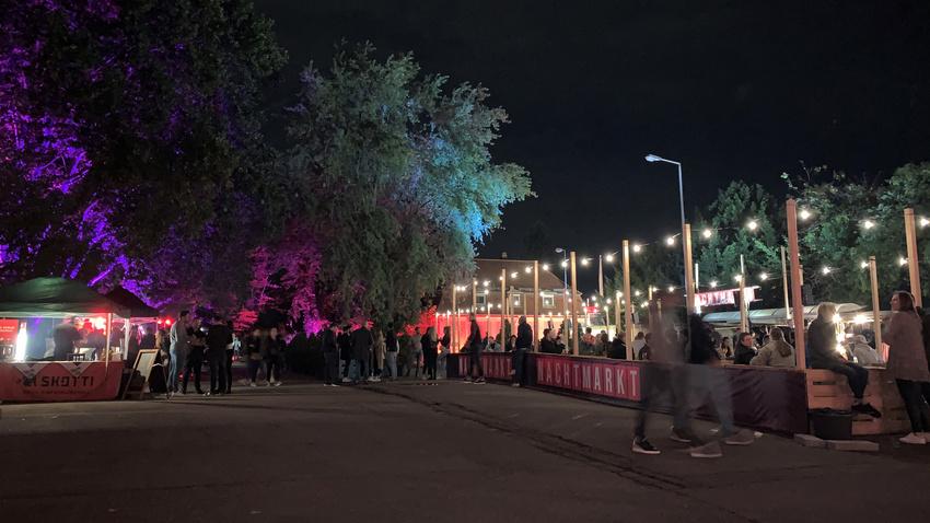 Impressionen der Eröffnung des Nachtmarkts
