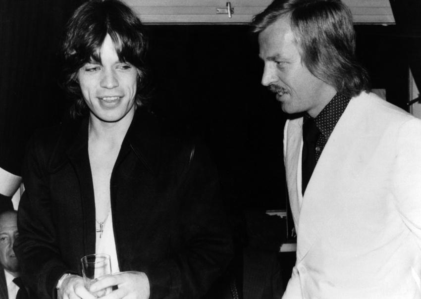 Mick Jagger and Siggi Loch, 1974