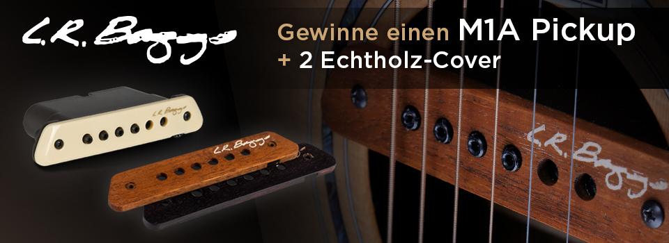 Gewinne einen L.R. Baggs Tonabnehmer mit Echtholz-Cover und Merch-Pakete!