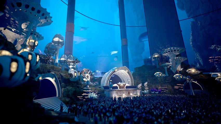 Die virtuelle Planaxis Unterwasserbühne