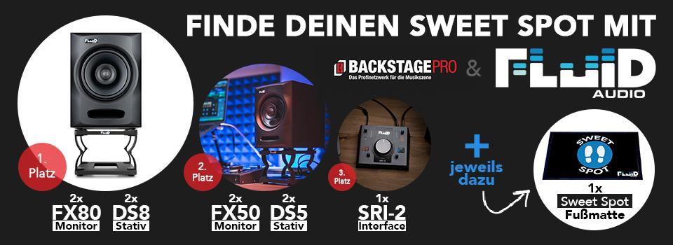 Gewinne Studiomonitore, Zubehör und die coole Sweet Spot Fußmatte von Fluid Audio!