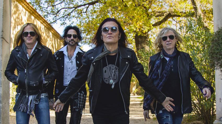 Die Hard-Rock-Band The Dead Daisies im Jahr 2020.