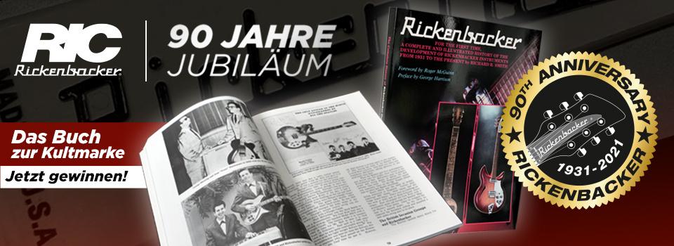 90 Jahre RICKENBACKER: Gewinne neue Saiten und das Buch zum Kult!