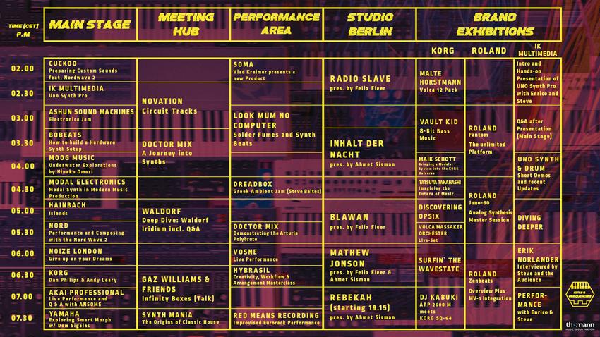 Der Zeitplan für Keys & Frequencies.