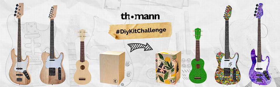 Thomann veranstaltet #DiyKitChallenge: Gestaltet jetzt euer eigenes Instrument!