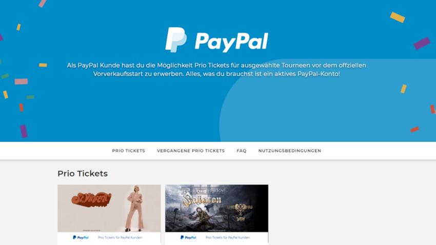 """Live Nation und PayPal starten """"Priority Ticket Programm"""""""