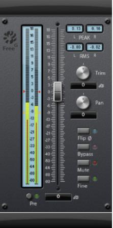 Können für die Anpassung des Pegels eines Audiosignals in einer Audiospur oder Gruppe verwendet werden.