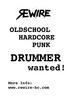 REWIRE (Band) sucht Schlagzeuger/in