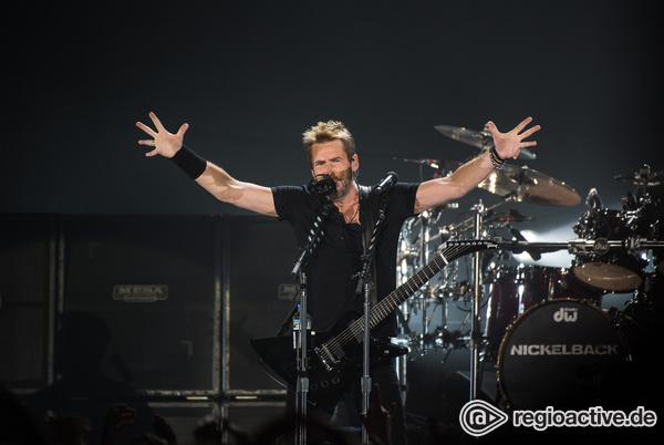 Ob Metal, Rock oder halbakustisch - Nickelback zeigen in der Mannheimer SAP Arena alle Facetten ihres Könnens