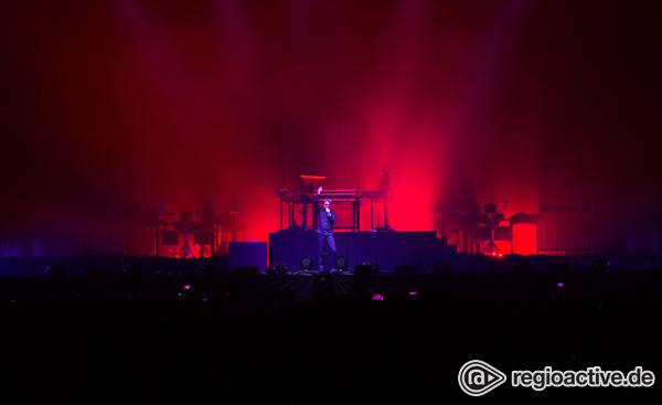 Licht und Laser - Leuchtend: Fotos von Jean Michel Jarre live in der Festhalle in Frankfurt am Main