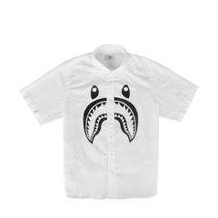 A Bathing Ape Shark Logo Shirt in White