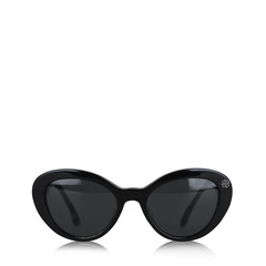 Prada Grey Gradient Black Acetate Sunglasses Italy 53mm