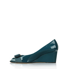 Salvatore Ferragamo Sissi Patent Wedge Pump