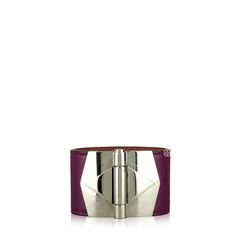 Hermes Berenice Leather With Silver Cuff