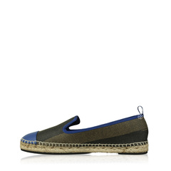 Fendi Espadrilles Junia Stripe Canvas Blue and brown Flats