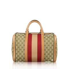 Gucci	 Medium GG Canvas Vintage Web Boston