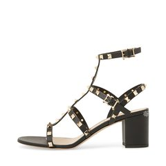 Valentino Garavani	 Rockstud Chunky Sandals 60mm in Black