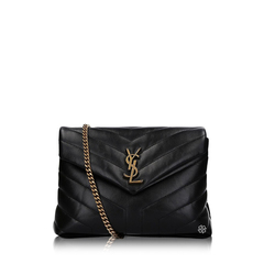 Saint Laurent	Small Loulou Shoulder Bag in Black Quilted Leather GHW