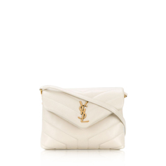 Saint Laurent	Toy Loulou Shoulder Bag in Crema Soft GHW