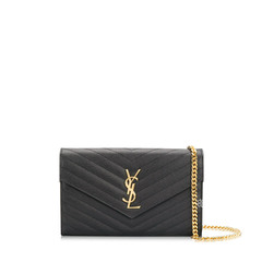 Saint Laurent	Wallet on Chain 22.5cm in Black Caviar Leather GHW