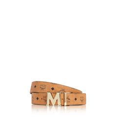 MCM	Women Claus 1.2' Reversible Belt in Cognac GHW