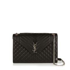 Saint Laurent	Large Monogramme Envelope Shoulder Bag in Black Caviar Leather SHW