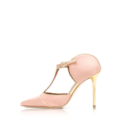 Malone Souliers	Imogen Pumps 100mm in Blush Satin/Gold