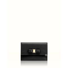 Salvatore Ferragamo Vara Card Wallet Black