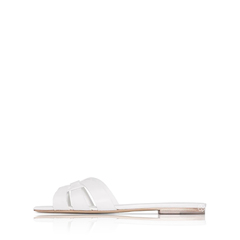 Saint Laurent	YSL Saint Laurent Nu Pieds Sandals in White Calf