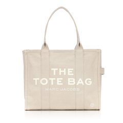 Marc By Marc Jacobs Large Traveler Tote Bag in Beige Canvas
