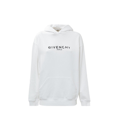 Givenchy	Destroyed Logo Hoodie White