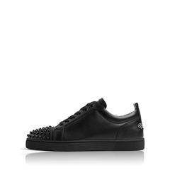 Christian Louboutin	Men Louis Junior Spike in All Black Leather