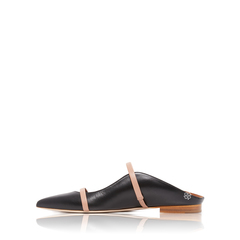 Malone Souliers	Maureen Mules Flat Shoes in Black/Nude