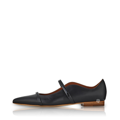 Malone SouliersFlats in All Black Leather