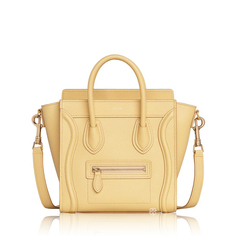 CelineNano Luggage Bag in Pollen Yellow Graind Leather