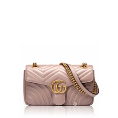 GucciGG Marmont Mini Flap in Nude GHW