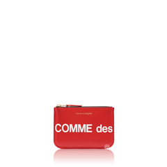 Comme Des GarconsLogo Small Zip Card Wallet Red