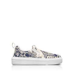 Christian DiorSolar Toile De Jouy Embroidered Slip-On Sneakers in Blue/White