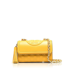 Tory BurchSmall Fleming Convertible Shoulder Bag in Golden Crest GHW with Tassels