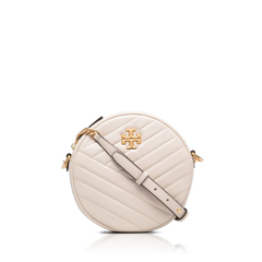 Tory BurchKira Chevron Circle Crossbody Bag in New Cream/Rolled Quilted