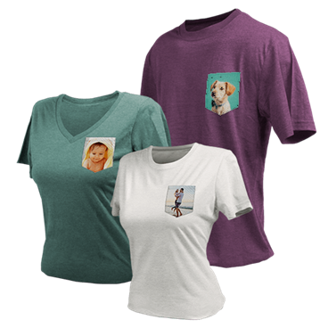 T-Shirt with Customizable Pocket