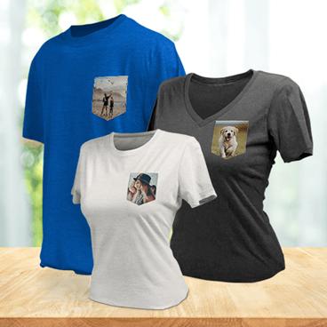 T-shirt avec poche personnalisée