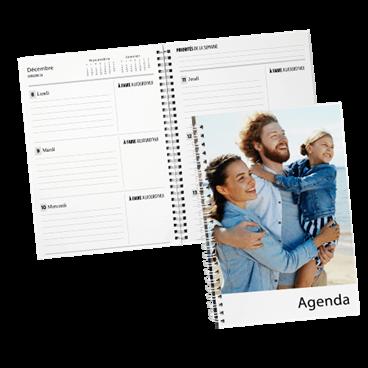 Agenda annuel à spirale