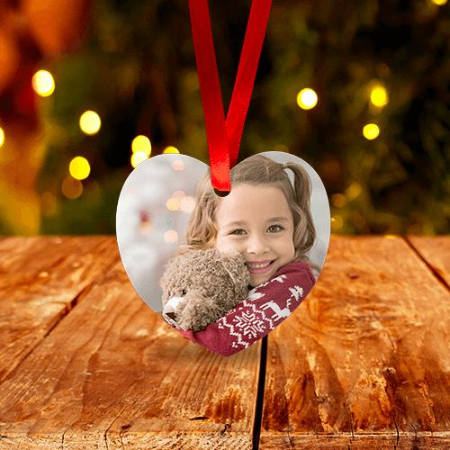 Heart Shaped Christmas Ornament