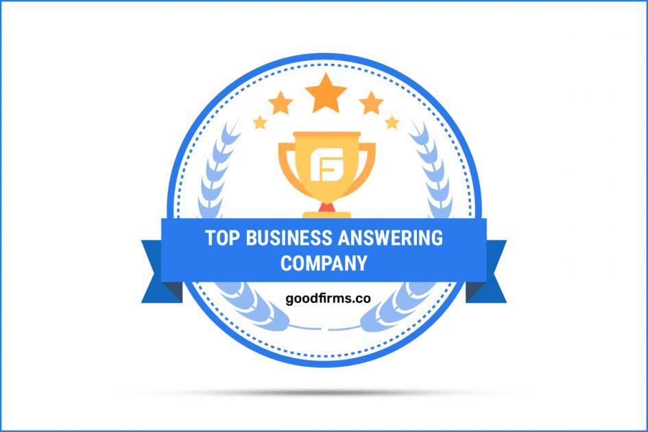 Top business answering company award