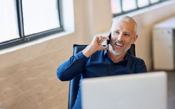 Client receiving phone call