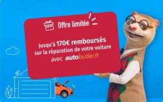 lesfurets x Autobutler: jusqu'à 170€ remboursés sur la réparation de votre voiture